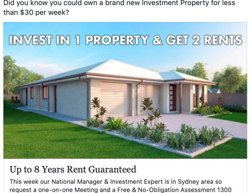 Did you know you could own a brand new Investment Property for less than $30 per week?